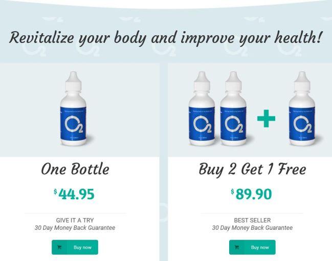 O2 Drops Sales Page